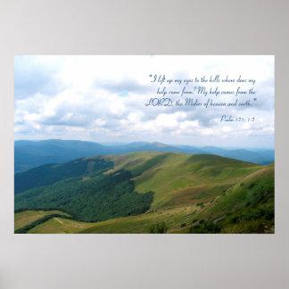 Inspirierend | Psalm 121; 1-2 Poster