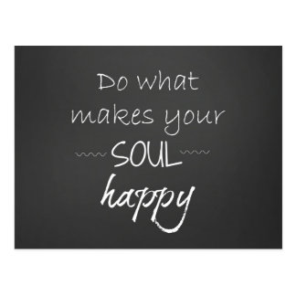Inspirierend Zitat: Soul glücklich Postkarte