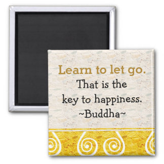 Inspirierend Zitate Buddha|Happiness Quadratischer Magnet