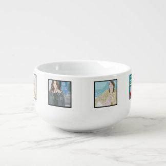 Instagram 6-Foto personalisierte kundenspezifische Große Suppentasse
