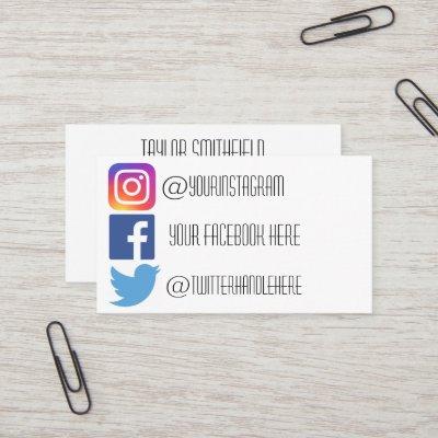 Facebook Profil Visitenkarte Specials Blau Mini
