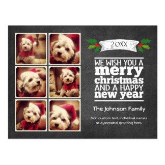 Instagram Feiertags-Tafel-Foto-Karte Postkarte