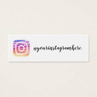 instagram moderne modische Visitenkarte