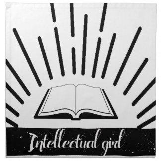 Intellektuelles Mädchen-lustiger Nerd-Slogan-Druck Stoffserviette