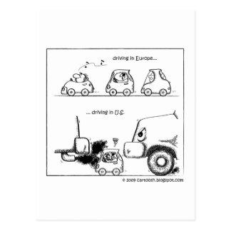 Intelligente Autos in US Postkarte