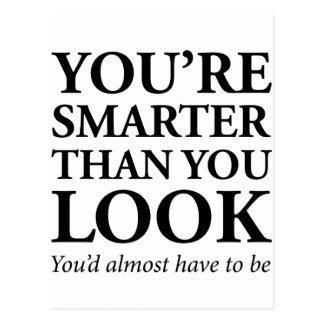 Intelligenter als Sie Blick Postkarte