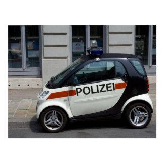 Intelligenter Polizeiwagen Postkarte