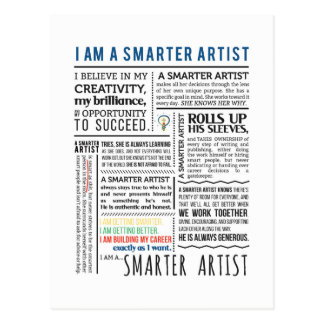 Intelligentere Künstler-Manifestpostkarten Postkarte