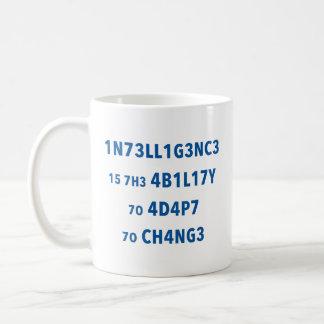 Intelligenz-Zitat-motivierend Tasse