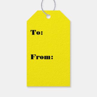 Intensiv glänzende gelbe Farbe Geschenkanhänger