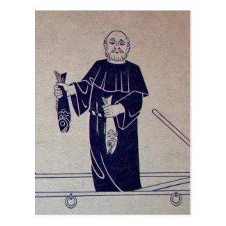 Interlaken, Wandgemälde von Mönchfischerei Postkarten