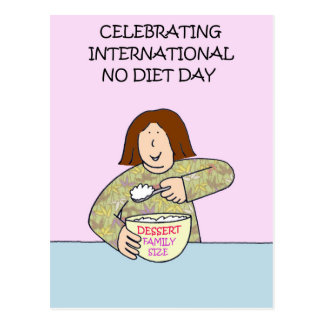 International kein Diät-Tag Postkarte