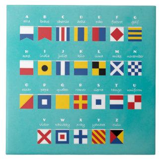 Internationaler Code des Signal-Alphabetes Keramikfliese