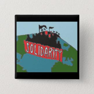 Internationaler solidaritätsknopf quadratischer button 5,1 cm