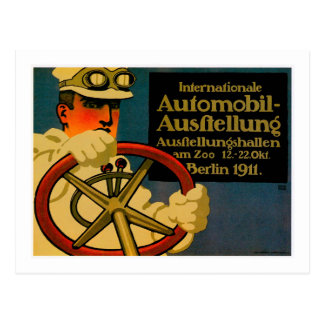 Internationales Auto-Show ~ Vintage Postkarte