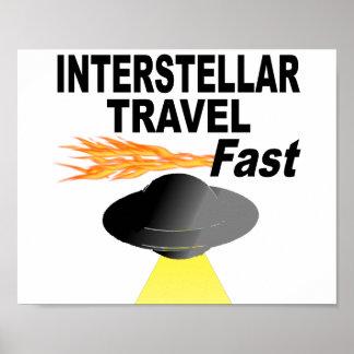 Interstellare Reise fasten Poster