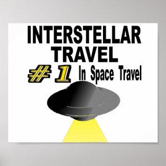 Interstellare Reise Nr. eine in der Raumfahrt Poster