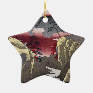 Inume Durchlauf in Kai Provinz Keramik Stern-Ornament