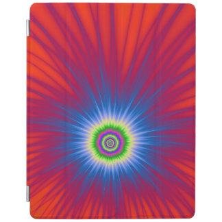 iPad Abdeckungs-blaue Explosion auf Rot iPad Smart Cover