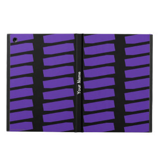 iPad Air ケース, lila abstraktes Muster auf Schwarzem