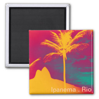 Ipanema - Leblon rj Quadratischer Magnet