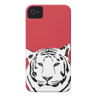 iPhone 4 Fall - Tiger auf Rot iPhone 4 Case-Mate Hüllen
