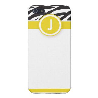 iPhone 4 flippige Zebra-Druck-Kasten-Zitrone/Schwa iPhone 5 Cover