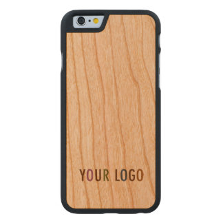 iPhone 6 6s Cherry Wood Case Custom Company Logo Carved® iPhone 6 Hülle Kirsche