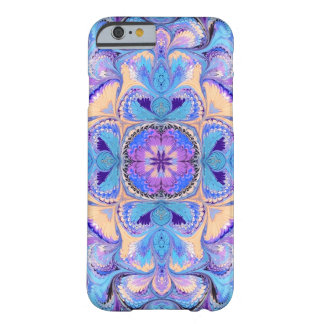 iPhone 6/6s Fall-Kaleidoskop-Aqua lila Barely There iPhone 6 Hülle
