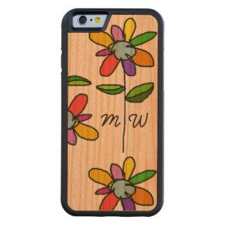 iPhone 6 mit FarbBlumen auf Holz Bumper iPhone 6 Hülle Kirsche