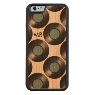 iPhone 6 mit VinylPlatten auf Holz Bumper iPhone 6 Hülle Kirsche