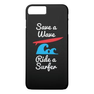 iPhone 6 Plusabdeckungs-Fall - Reiter ein Surfer iPhone 8 Plus/7 Plus Hülle