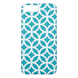 iPhone 7 Plusfall - Aqua-blaues geometrisches iPhone 7 Plus Hülle