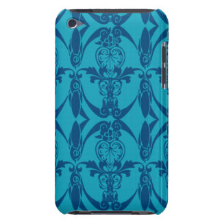 iPod-Touch-blaue Damast-Muster-Case-Mate iPod Case-Mate Case