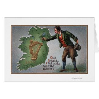Ire-anbietenKleeblätter nach Irland Grußkarte