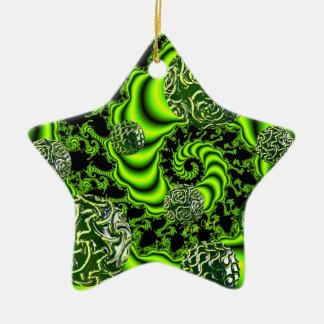 IrenWhirl - abstrakter Smaragdtanz Keramik Stern-Ornament
