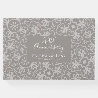 Irgendein Hochzeitstag - Fliesenmusterhintergrund Gästebuch