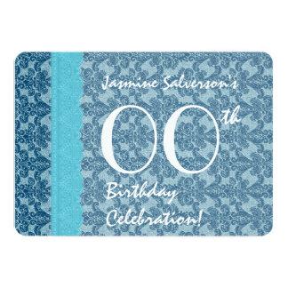 IRGENDEIN JAHR Geburtstags-Aqua und aquamariner 12,7 X 17,8 Cm Einladungskarte