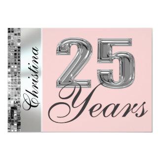Irgendeine Farbe u. 25 Jahre Geburtstags-Party 11,4 X 15,9 Cm Einladungskarte