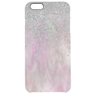 Iridescnet rosa und silberne iPhone 6 Plusfall Durchsichtige iPhone 6 Plus Hülle