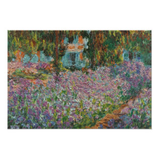 Iris durch Monet Poster