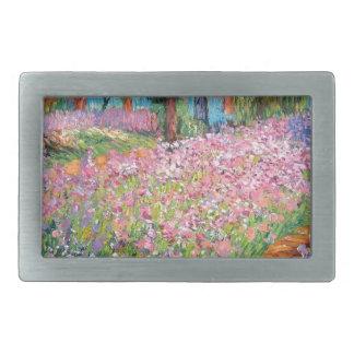 Iris im Garten des Künstlers Rechteckige Gürtelschnallen
