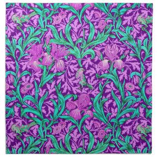 Iris-Muster Williams Morris, Amethyst Lila Stoffserviette