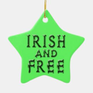 IRISCH und GEBEN Sie für St Patrick Tag frei Keramik Stern-Ornament