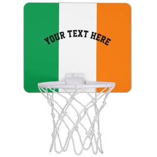 Irische Flagge von Irland-Gewohnheit Mini Basketball Ring