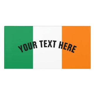 Irische Flagge von Irland-Gewohnheit Türschild
