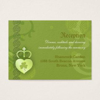 Irische Hochzeits-Empfangs-Einschließung Visitenkarte