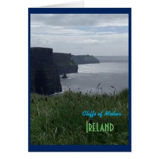 Irische Klippen von Moher Irland Karte