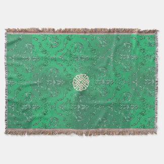 Irischer grüner Damast mit weißes Decke