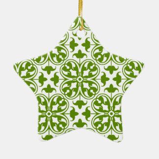 Irischer Klee Keramik Stern-Ornament